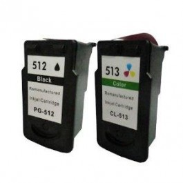 Pack cartouches compatibles Canon PG512 et CL513.
