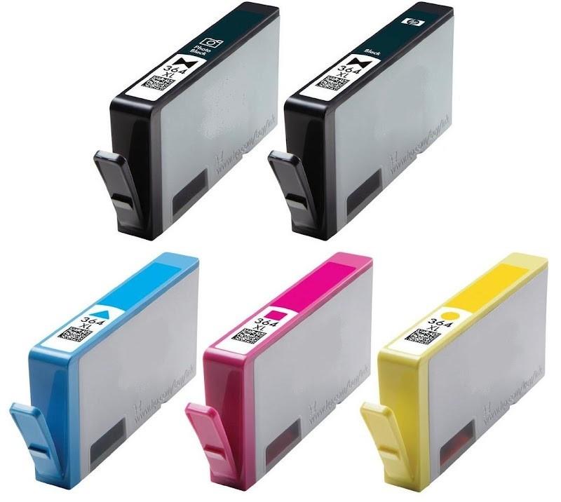 Pack de 5 cartouches compatibles N°364XL