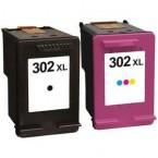 Pack cartouches compatibles HP 302XL Black + Couleur