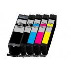 Pack de 5 cartouches compatibles Canon PGI-580XXL / CLI-581XXL